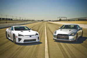 Lexus LFA против Nissan GT-R